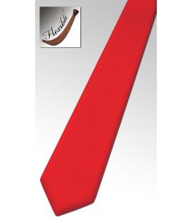 Cravate en bois teinté rouge