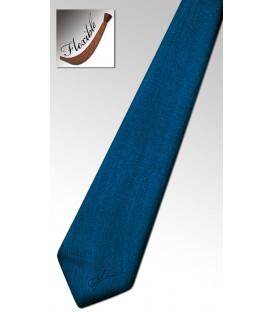 Cravate en bois teinté bleu cobalt
