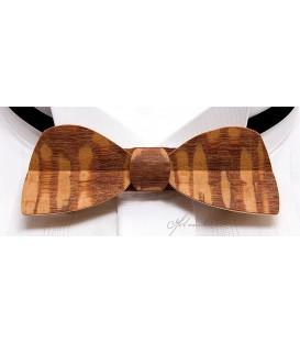 Noeud papillon en bois, modèle Demi-lune en Faeïra - MELISSAMBRE