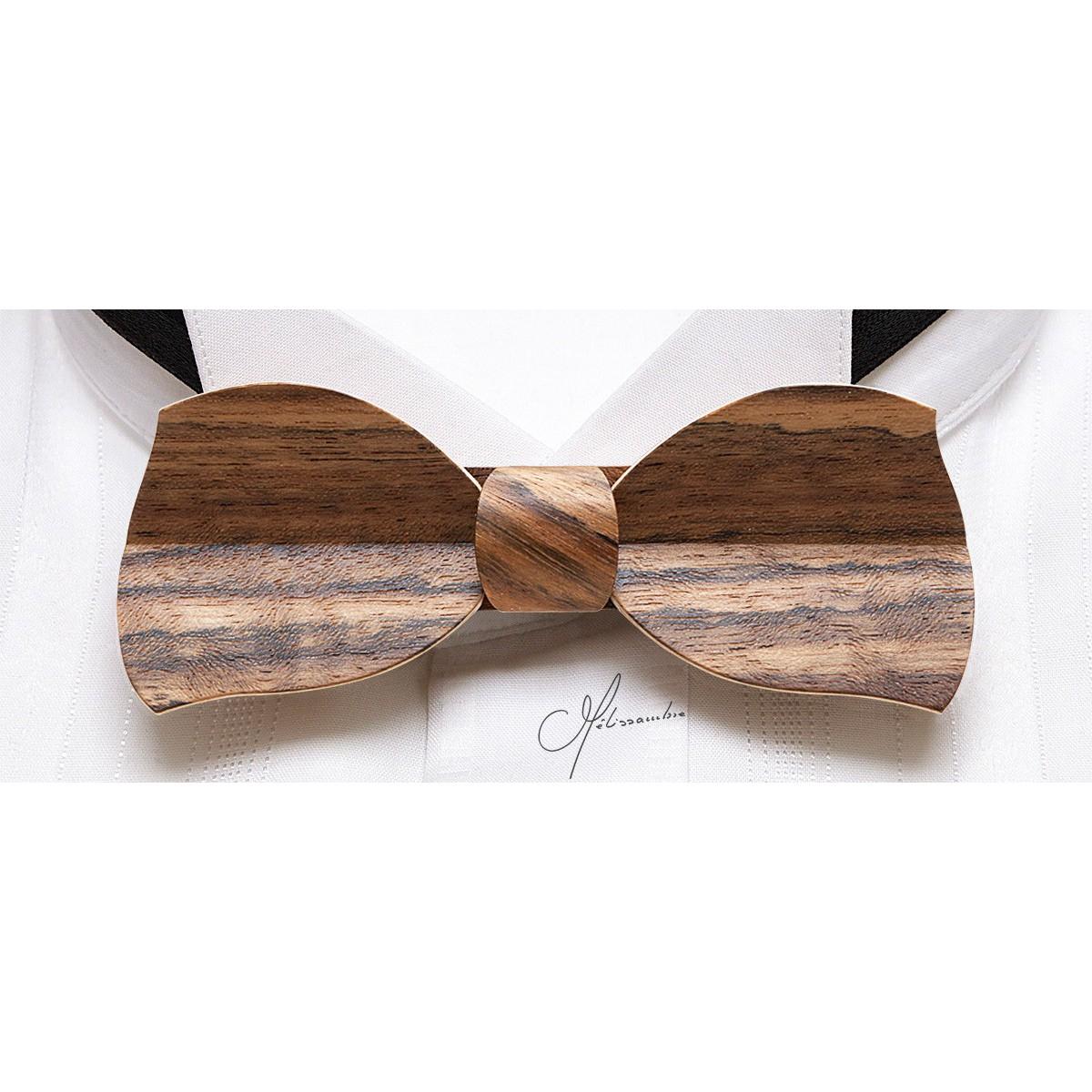 Noeud papillon bois, Butterfly en Amazakoué MELISSAMBRE Noeuds papillon en bois Cravates  # Noeuds Papillon En Bois