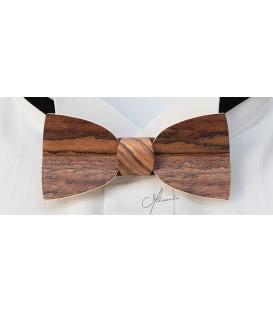 Nœud papillon bois - Modèle Mellissimo en Amazakoué - MELISSAMBRE