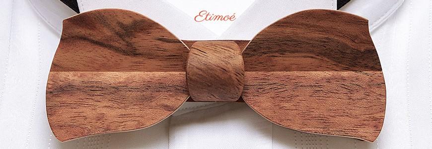 Nœud papillon en bois - Le Butterfly