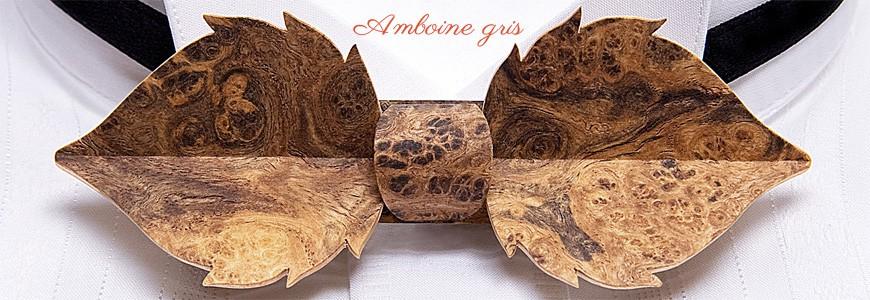 Noeud papillon en bois - La Feuille