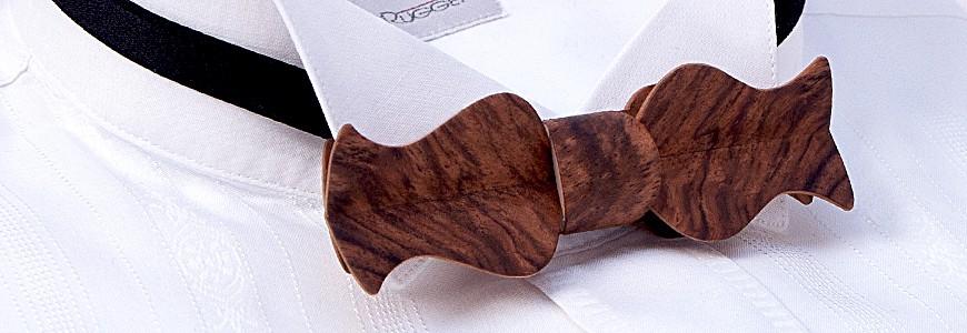 Nœud papillon en bois - Le Rétro