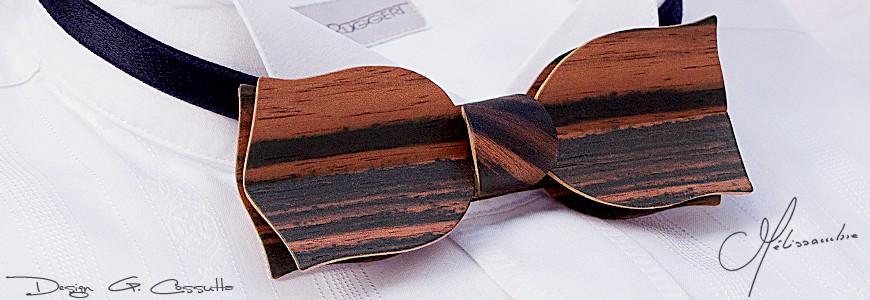 Nœud papillon en bois - La Tulipe