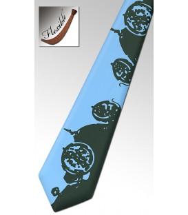 Wooden blue tie, Bugatti car - MELISSAMBRE