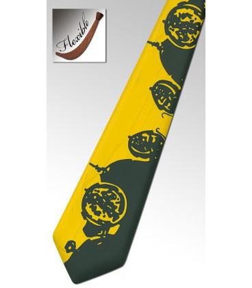 Cravate jaune en bois, la Bugatti - MELISSAMBRE