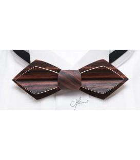 Bow Tie in Wood - Nib Model in Macassar Ebony - MELISSAMBRE