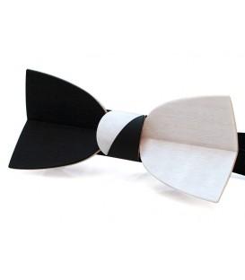 Noeud papillon bois, Mellissimo en Movingui noir & blanc