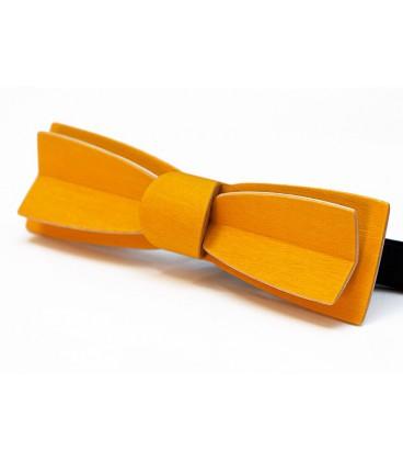 Nœud papillon en bois, Stretto en Erable teinté jaune - MELISSAMBRE