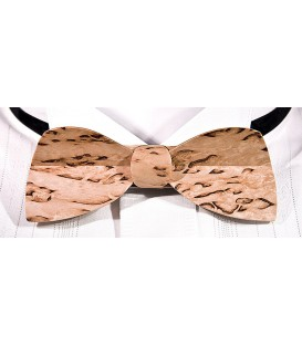 Bow tie in wood, Half-Moon in mottled Finland Birch - MELISSAMBRE