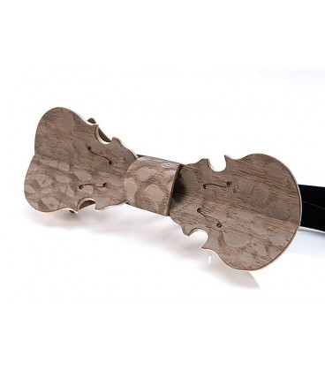 Bow Tie in Wood, Violin in Hazelnut Louro-Faïa - MELISSAMBRE