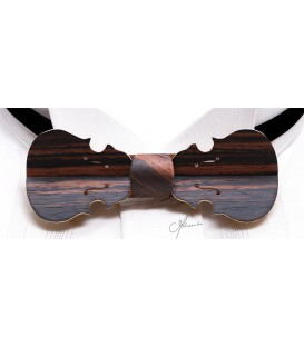 Bow Tie in Wood - Violin Model in Macassar Ebony - MELISSAMBRE