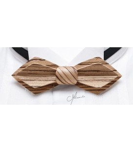 Bow Tie in Wood - Nib Model in Zebrano - MELISSAMBRE