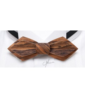 Bow Tie in Wood - Nib Model in Mozambique Wood - MELISSAMBRE