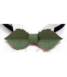 Nœud papillon en bois, Feuille en Erable teinté - MELISSAMBRE
