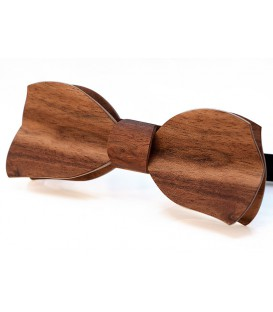 Bow tie in wood, Butterfly in Etimoe