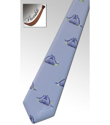 Cravate en bois, basket lavande
