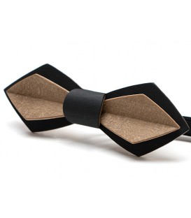 Wooden bow tie, Nib in black & bronze Maple