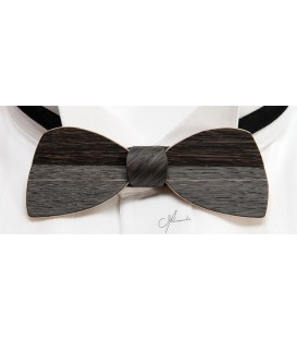 Bow tie in wood, Half-moon in Marsh Oak - MELISSAMBRE