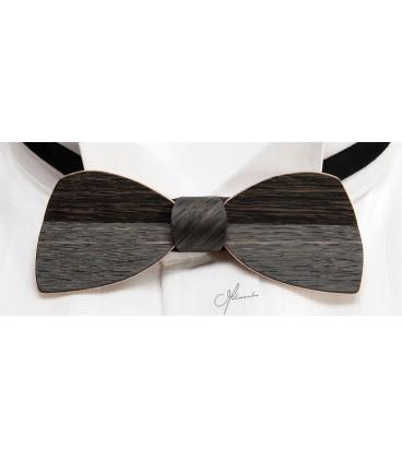 Bow tie in wood, Half-moon in Marsh Oak - MELISSAMBRE