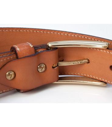 Belt in Wood & Leather, Zebrano - MELISSAMBRE