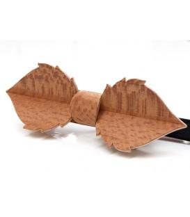 Nœud papillon en bois , Feuille en Platane maillé