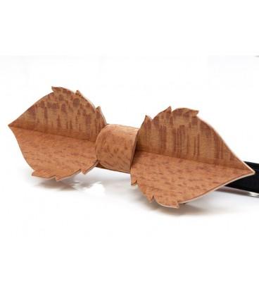 Nœud papillon en bois, Feuille en Platane maillé - MELISSAMBRE