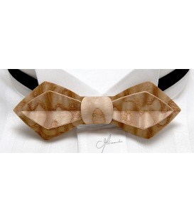Bow tie in wood, Nib model in Japan Ash tree
