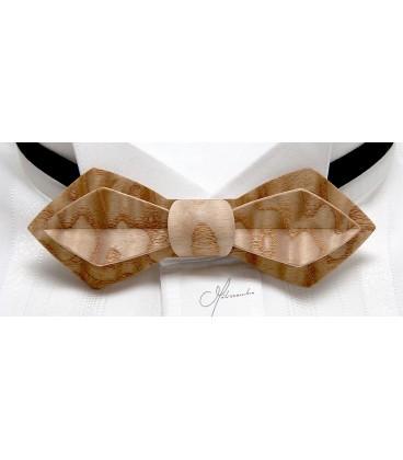 Wooden bow tie, Nib in Japan Ash - MELISSAMBRE