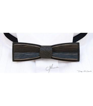 Bow tie in wood, Stretto in Marsh Oak - MELISSAMBRE