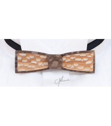 Bow tie in wood, Stretto in Louro-Faïa - MELISSAMBRE