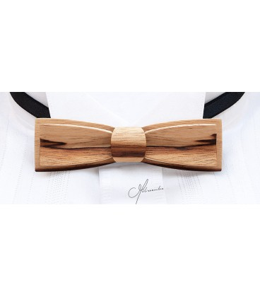 Bow tie in wood, Stretto in Dogwood - MELISSAMBRE