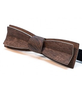 Bow tie in wood, Stretto in patinated Oak