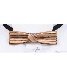 Bow tie in wood, Stretto in Zebrano - MELISSAMBRE