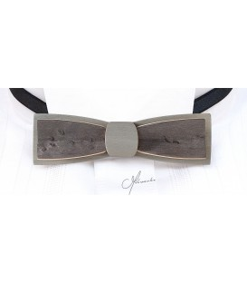 Bow tie in wood, Stretto in grey pearly Maple