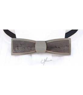 Nœud papillon bois, Stretto en Erable perlé gris
