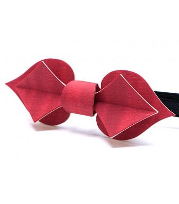 Noeud papillon en bois, Carte en Erable teinté rouge - MELISSAMBRE