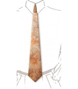 Tie in wood, silvery Bubinga - MELISSAMBRE