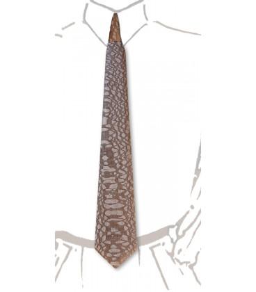 Cravate en bois, Louro-Faïa teinté noisette - MELISSAMBRE