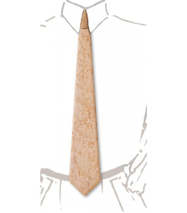 Cravate en bois, Erable perlé - MELISSAMBRE