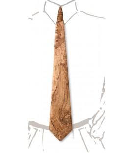 Cravate en bois, loupe de Frêne-Olivier - MELISSAMBRE
