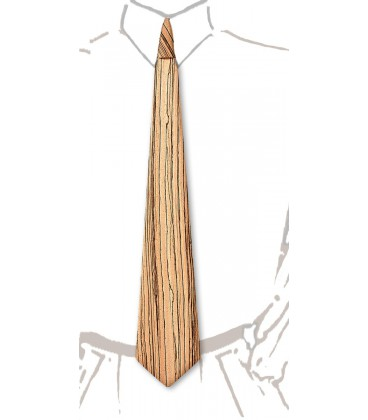 Cravate en bois, Zébrano - MELISSAMBRE