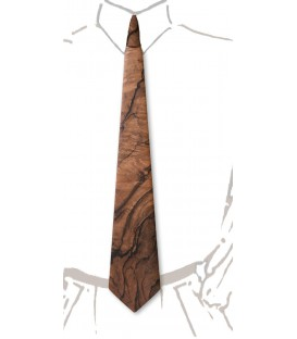 Wooden tie, flowered Walnut tree - MELISSAMBRE
