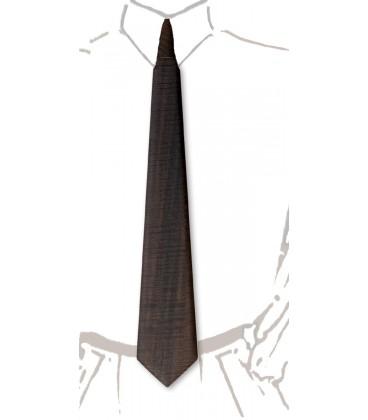 Wooden tie, smoked watered eucalyptus - MELISSAMBRE