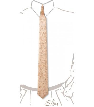 Cravate slim en bois, Erable perlé - MELISSAMBRE