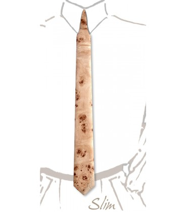 Slim wooden tie, Poplar burl - MELISSAMBRE