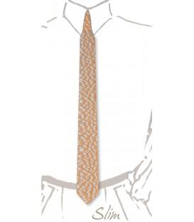Cravate slim en bois, Louro faïa - MELISSAMBRE