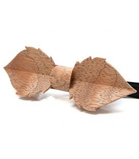 Noeud papillon bois, Feuille en Bubinga argenté