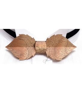 Noeud papillon en bois, Feuille en Bubinga argenté - MELISSAMBRE